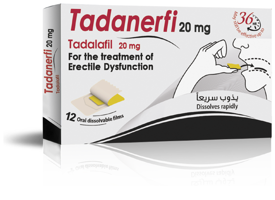 TADANERFI 20mg … Long lasting pleasure UP TO 36 HOURS